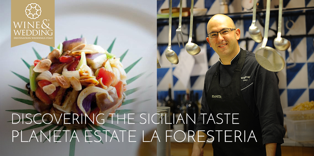 Discovering the Sicilian taste in the beautiful tiled kitchen of La Foresteria